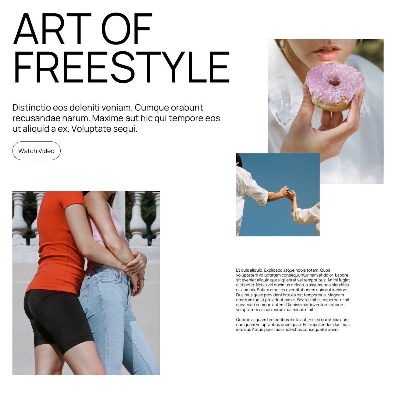 free WordPress Block Pattern Aino Freestyle
