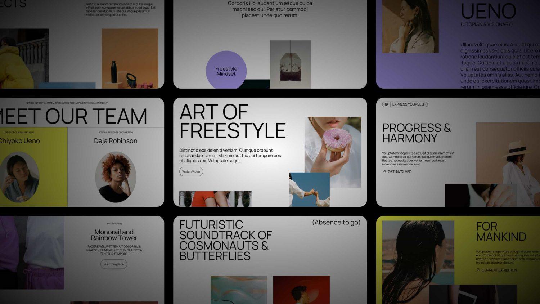free WordPress Aino block pattern set Freestyle